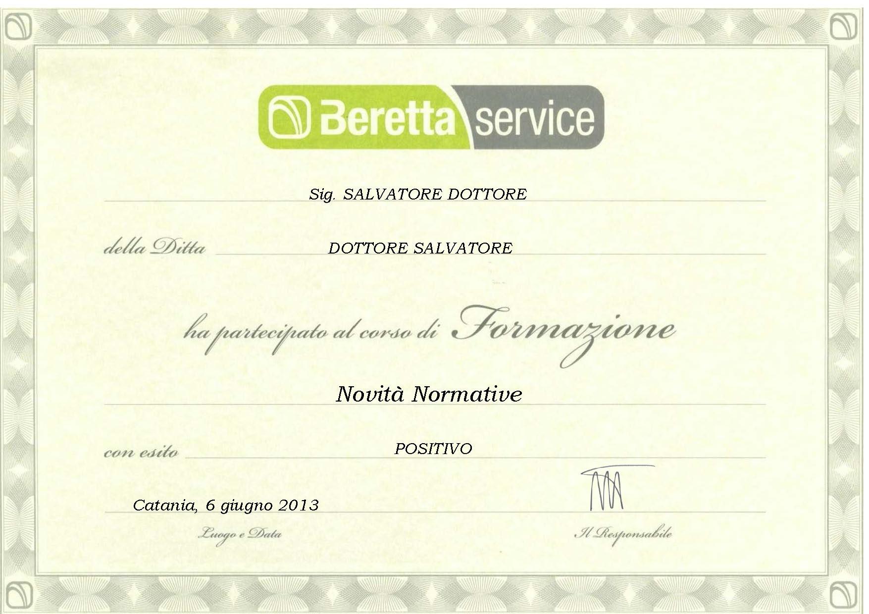 Aggiornamento Caldaie Beretta Service Messina